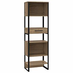 Brooklyn Tall Narrow Bookcase with 1 Drawer