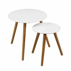 Premier Housewares Nostra Nest of 2 Round Tables