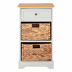 Premier Housewares Vermont 1 Drawer Cabinet with 2 Baskets
