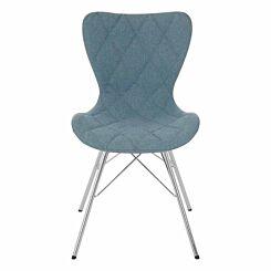 Premier Housewares Stockholm Fabric Chair Light Blue