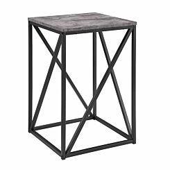 New York Modern Geometric Square Side Table Concrete Grey