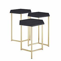 Chicago Modern Nesting Tables Set of 3 Graphite