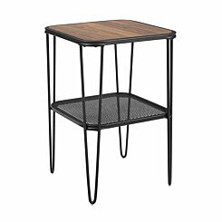 Boston Industrial Mesh Side Table with Hairpin Legs