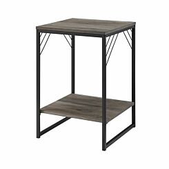 Austin Metal Accent Square Side Table Grey