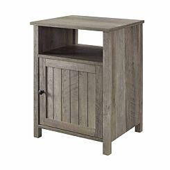 Phoenix Grooved Door Side Table Grey