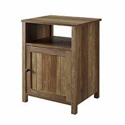 Phoenix Grooved Door Side Table Oak
