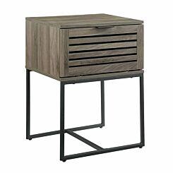 Raleigh Modern Slat Door Side Table Slate