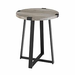 Tampa Rustic Side Table Grey