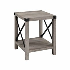 Tulsa Rustic Wood Side Table