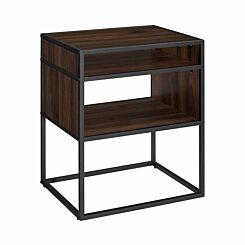 Colorado Open Shelf Side Table Walnut