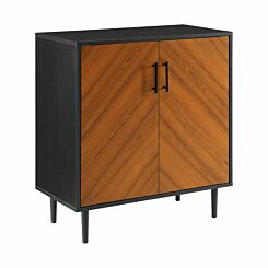 Accra Modern Bookmatch Accent Cabinet Black