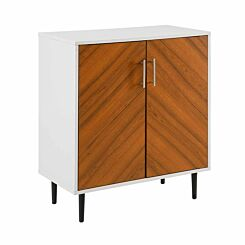 Accra Modern Bookmatch Accent Cabinet White