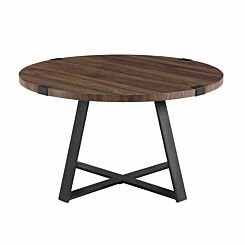 Cairo Rustic Round Coffee Table Walnut