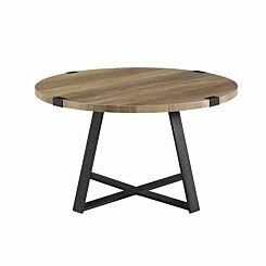 Cairo Rustic Round Coffee Table Barnwood