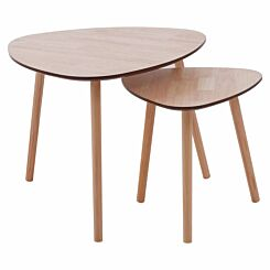 Premier Housewares Triangular Side Tables Set of 2
