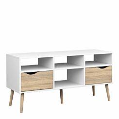 Oslo Wide 2 Drawer 4 Shelves TV Unit