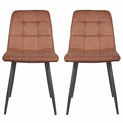 Clement Fabric Dining Chair Set of 2
