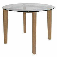 Nolan Round Glass Dining Table 100cm