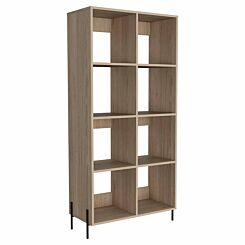 Harvard Wide Bookcase with Metal Legs