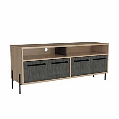 Harvard Two Tone Wide Screen TV Unit with 4 Doors