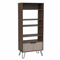 Nevada Display Bookcase with Hairpin Legs