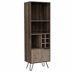 Nevada Tall Bar Cabinet with Hairpin Legs