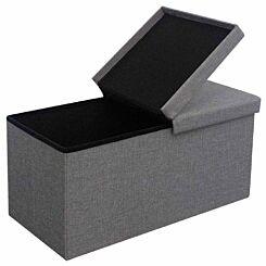 Kinetic Large Linen Split Lid Storage Box