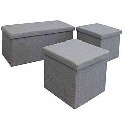Kinetic Linen Folding Storage Boxes Set of 3