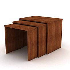 Max Nest of 3 Modern Tables Walnut