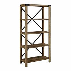 Inga Metal X Frame Bookcase