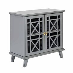 Shelby Fretwork Accent Cabinet