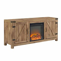Colby Barn Door TV Console with Fireplace