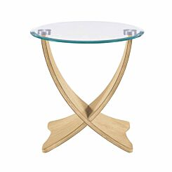 Jual Siena Wood and Glass Lamp Table