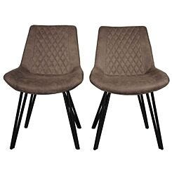 Gare Industrial Style Dining Chair with Black Legs Set of 2