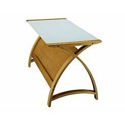 Jual Helsinki Curve Glass Laptop Table