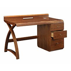 Jual Santiago Curve Walnut 3 Drawer Pedestal Desk
