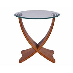 Jual Siena Walnut and Glass Lamp Table