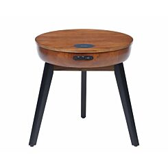 Jual San Francisco Smart Lamp Table with Wireless Charging Walnut