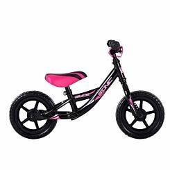 Sonic Glide Kids Balance Bike 10 Inch Wheel Black/Pink
