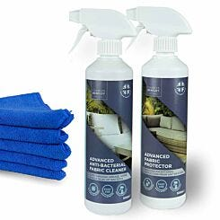 Charles Bentley Outdoor Antibacterial Fabric Cleaner and Protector Set