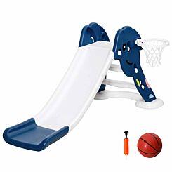 Zesty Kids Slide with Basketball Hoop