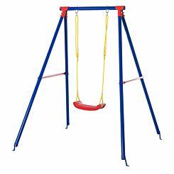 Zesty Kids Adjustable Metal A Frame Outdoor Swing