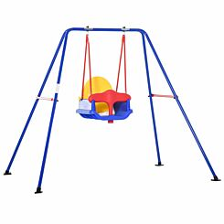 Zesty Kids Outdoor Toddler Swing with Safety Harness