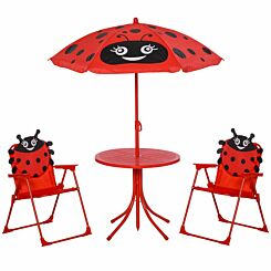Zesty Kids Ladybird Folding Garden Bistro Set