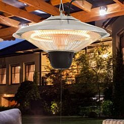 Alfresco Hanging Electric Patio Heater with Pull Cord 1.5KW