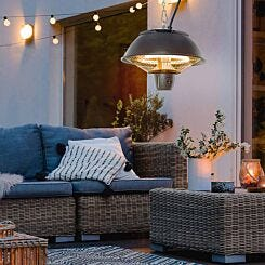 Alfresco Hanging Electric Patio Heater with Pull Cord 600W