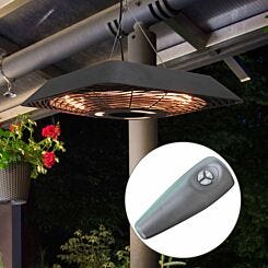 Alfresco Hanging Electric Patio Heater with Remote Control 2KW