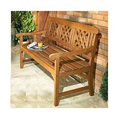3 Seater Garden Bench Hardwood