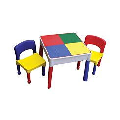 Childrens Plastic Activity Table and Chairs Set