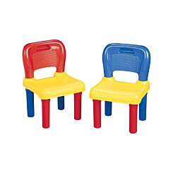 Childrens Plastic Chairs Set of 2